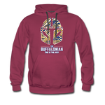 Men's Buffalo Hockey Premium Hoodie - burgundy