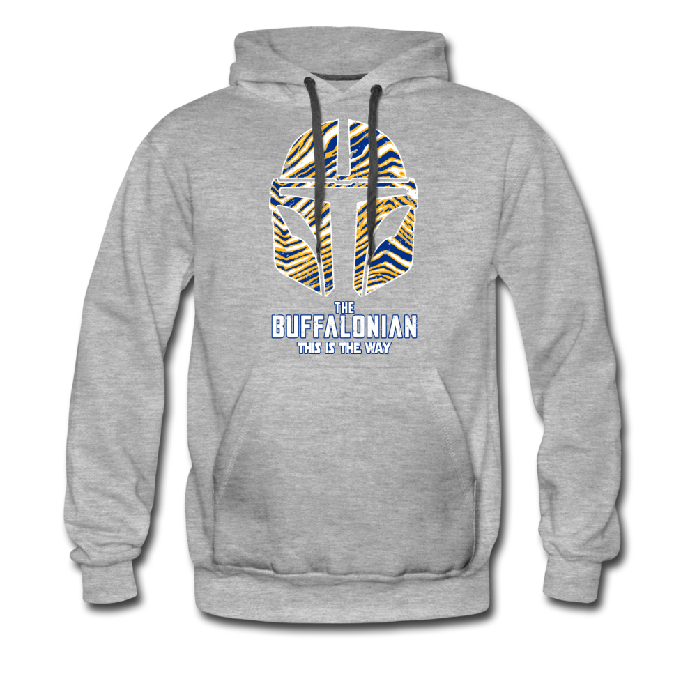 Men's Buffalo Hockey Premium Hoodie - heather gray
