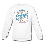 Unisex Love & Crystals Crewneck Sweatshirt - white