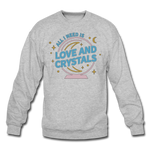 Unisex Love & Crystals Crewneck Sweatshirt - heather gray