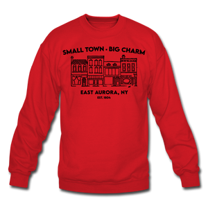 Unisex East Aurora Crewneck Sweatshirt - red