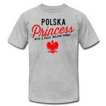 Unisex Polska Princess Premium T-shirt - heather gray