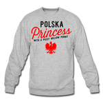 Unisex Polska Princess Crewneck Sweatshirt - heather gray