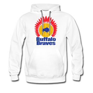 Men's Buffalo Braves Premium Hoodie - white