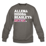 Unisex Players Crewneck Sweatshirt - asphalt gray
