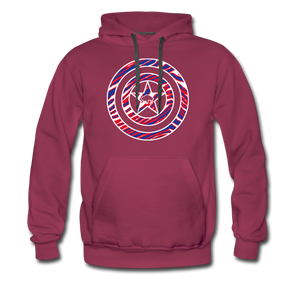 Men's Captain Buffalo Premium Hoodie - burgundy