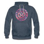Men's Captain Buffalo Premium Hoodie - heather denim