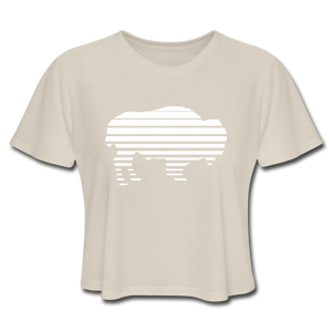 Women's Adidas Cropped T-Shirt - dust