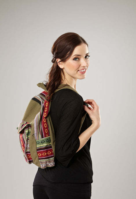 Half Print Backpack