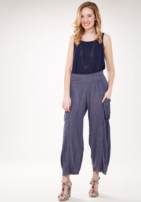Stitched Pant with Side-pockets