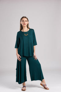 Skirted Wide-Leg Pants