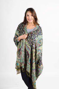 Embroidery Tribal Shawl/Scarf