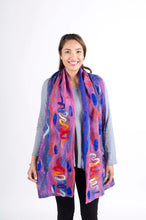Felt on Silk Scarf