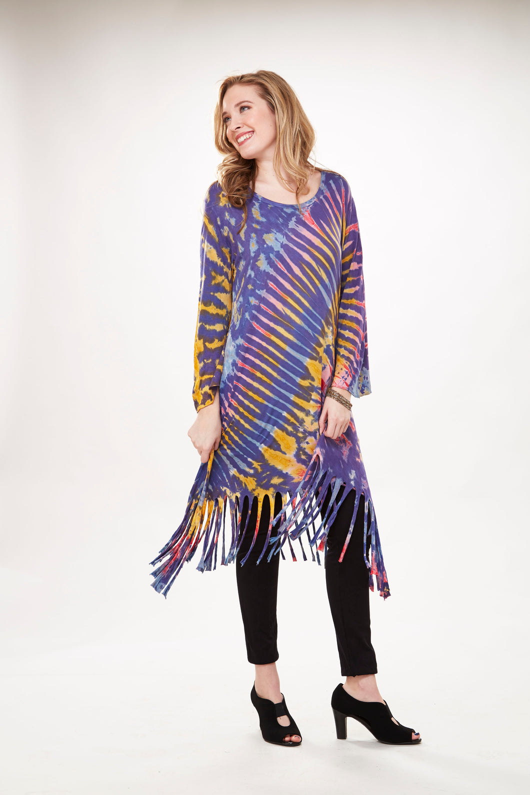 Tie-Dye Fringe Dress