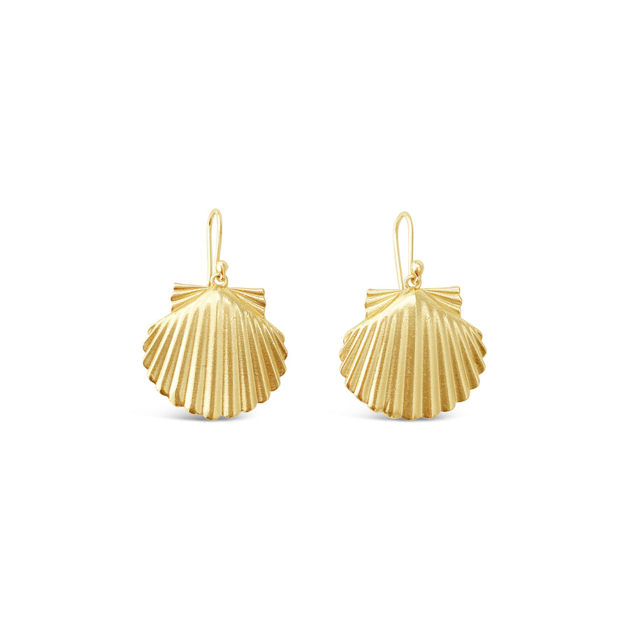 SCALLOP EARRINGS