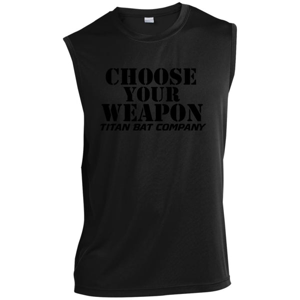 Titan Choose Your Weapon Sleeveless Performance T-Shirt