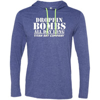 Droppin Bombs All Day LS T-Shirt Hoodie White