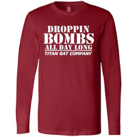Droppin Bombs All Day Men's LS T-Shirt White