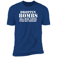 Droppin Bombs All Day Short T-Shirt White