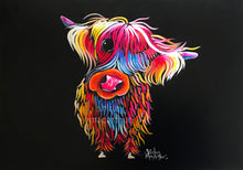 ORiGiNaL HiGHLaND CoW PaiNTiNG ' BLooM '
