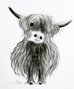 CHaRCoaL ORiGiNaLS!  HiGHLaND CoW PaiNTiNGS - No 13