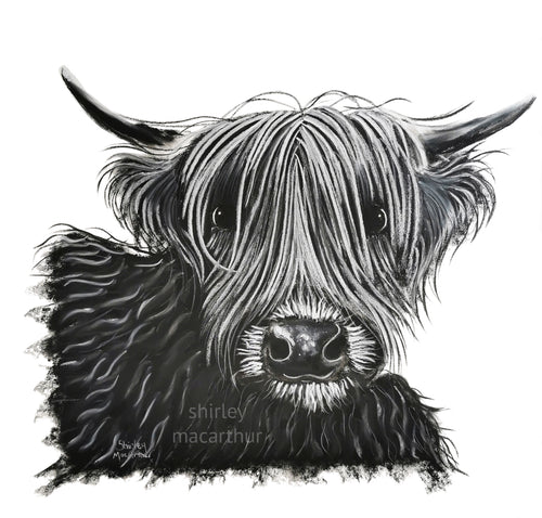 CHaRCoaL and PaSTeL ORiGiNaLS! HiGHLaND CoW PaiNTiNGS - No 9