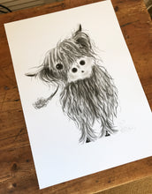 CHaRCoaL ORiGiNaLS! HiGHLaND CoW PaiNTiNGS - No 7