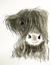CHaRCoaL ORiGiNaLS! HiGHLaND CoW PaiNTiNGS - No 3