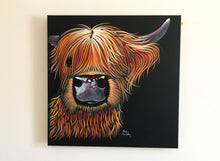 ORiGiNaL HiGHLaND CoW PaiNTiNG ' HeNRY '