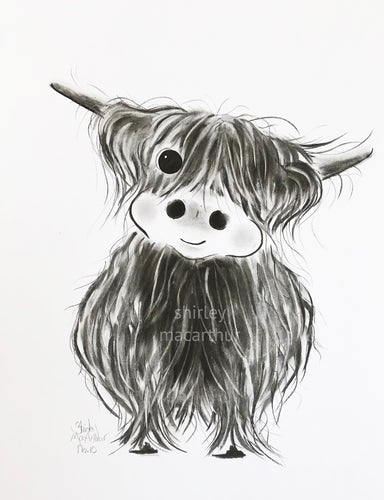 CHaRCoaL ORiGiNaLS!  HiGHLaND CoW PaiNTiNGS - No 12