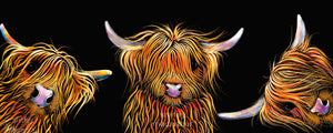 ' THe SCoTTieS '  HiGHLaND CoW PRiNT, WaLL ART