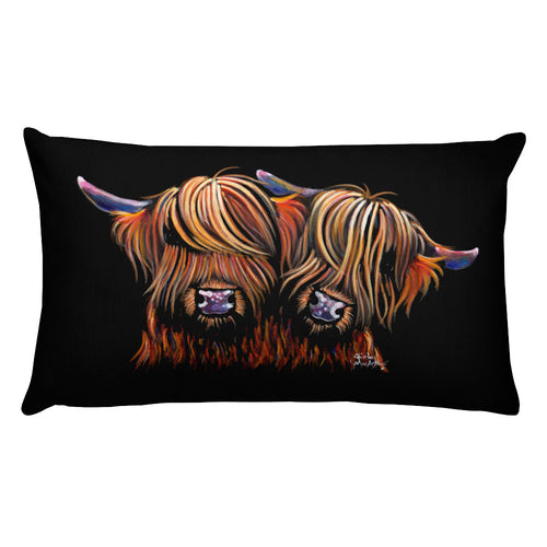 THRoW PiLLoW / CuSHioN 20 x 12 iNCH  HiGHLaND CoW ' PaLS '