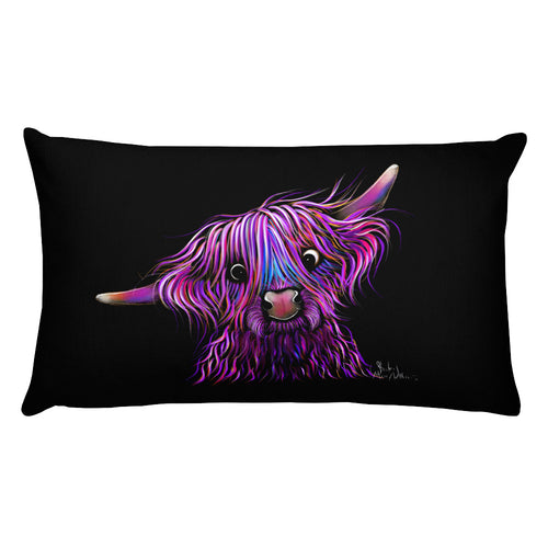 THRoW PiLLoW / CuSHioN 20 x 12 iNCH  HiGHLaND CoW ' HuCKLeBeRRY '