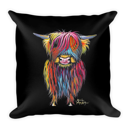 THRoW PiLLoW / CuSHioN 18 x 18 iNCH HiGHLaND CoW ' BRaVeHeaRT '