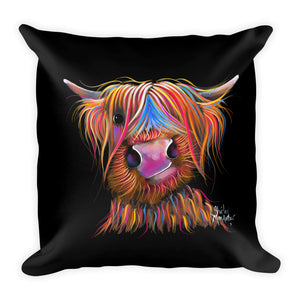 THRoW PiLLoW / CuSHioN 18 x 18 iNCH  HiGHLaND CoW ' BRuCe '
