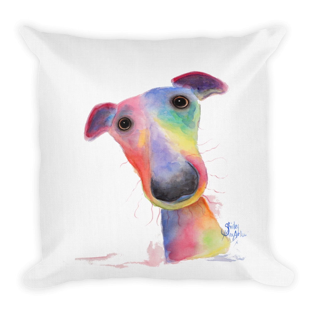 THRoW PiLLoW / CuSHioN 18 x 18 iNCH WHiPPeT GReYHouND ' HaNK '