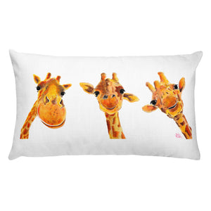 THRoW PiLLoW / CuSHioN 20 x 12 iNCH GiRaFFe / Zoo ' FRieNDS '