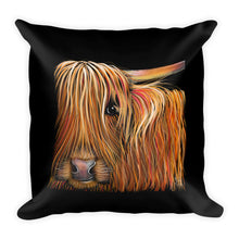 THRoW PiLLoW / CuSHioN 18 x 18 iNCH HiGHLaND CoW ' BuTTeRNuT '