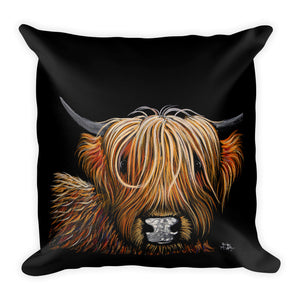 THRoW PiLLoW / CuSHioN 18 x 18 iNCH HiGHLaND CoW ' HaMiSH '