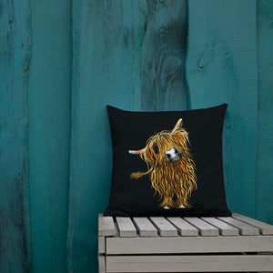 THRoW PiLLoW / CuSHioN 18 x 18 iNCH  HiGHLaND CoW ' CoooWeee '