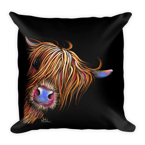 THRoW PiLLoW / CuSHioN 18 x 18 iNCH  HiGHLaND CoW ' SuGaR LuMP '