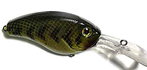 painted lure body - crankbait deep diving bass fishing