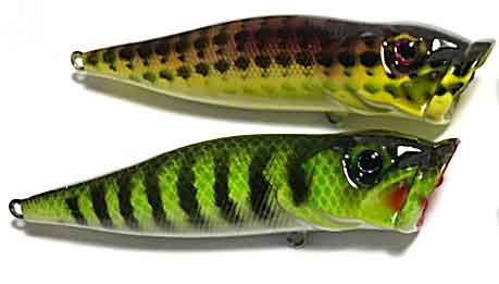 popper blank lure bodies painted - lure body