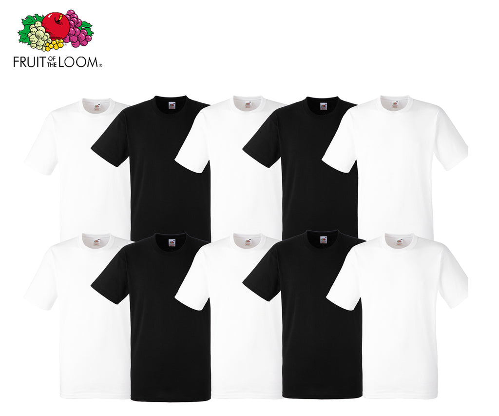Fruit Of The Loom - Heavy Cotton T-Shirt - 10er Farbset's 1-7