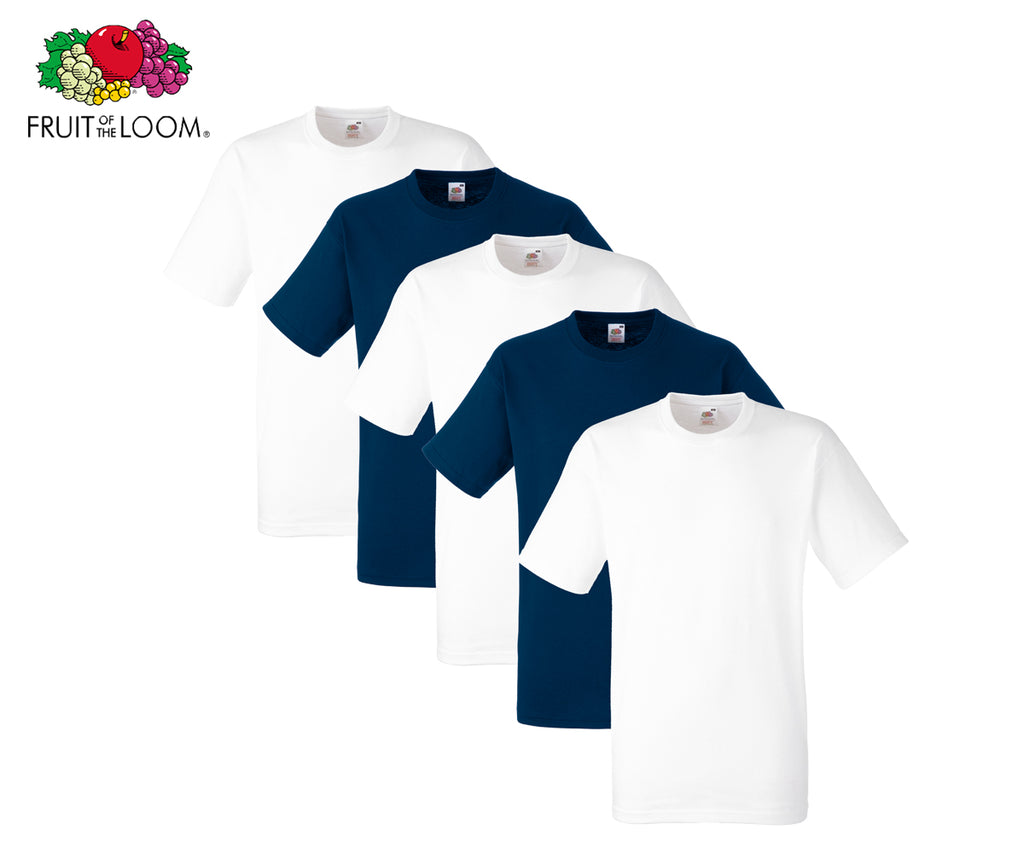 Fruit Of The Loom - Heavy Cotton T-Shirt - 5er Farbset's 1-9