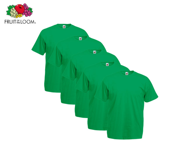 Fruit Of The Loom - Valueweight T-Shirt - 5er Set's einfarbig knallige Farben
