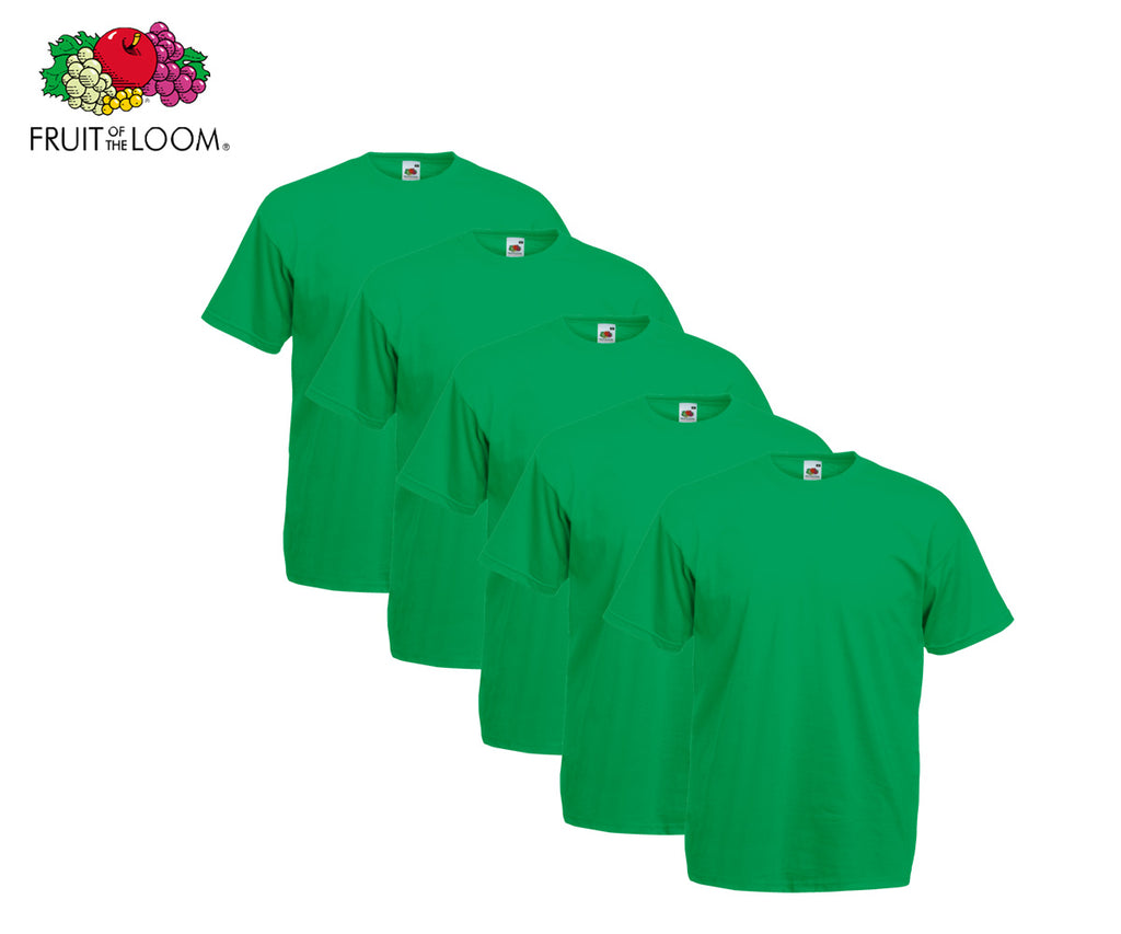 Fruit Of The Loom - Valueweight T-Shirt - 10er Set's einfarbig knallige Farben