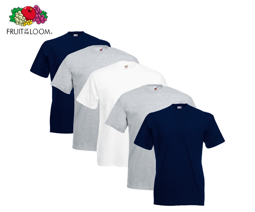 Fruit Of The Loom - Valueweight T-Shirts - 5er Farbset B17-B20
