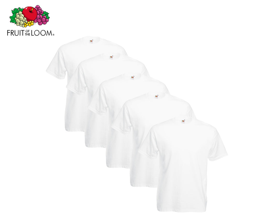 Fruit Of The Loom - Valueweight T-Shirt - 5er Set's einfarbig