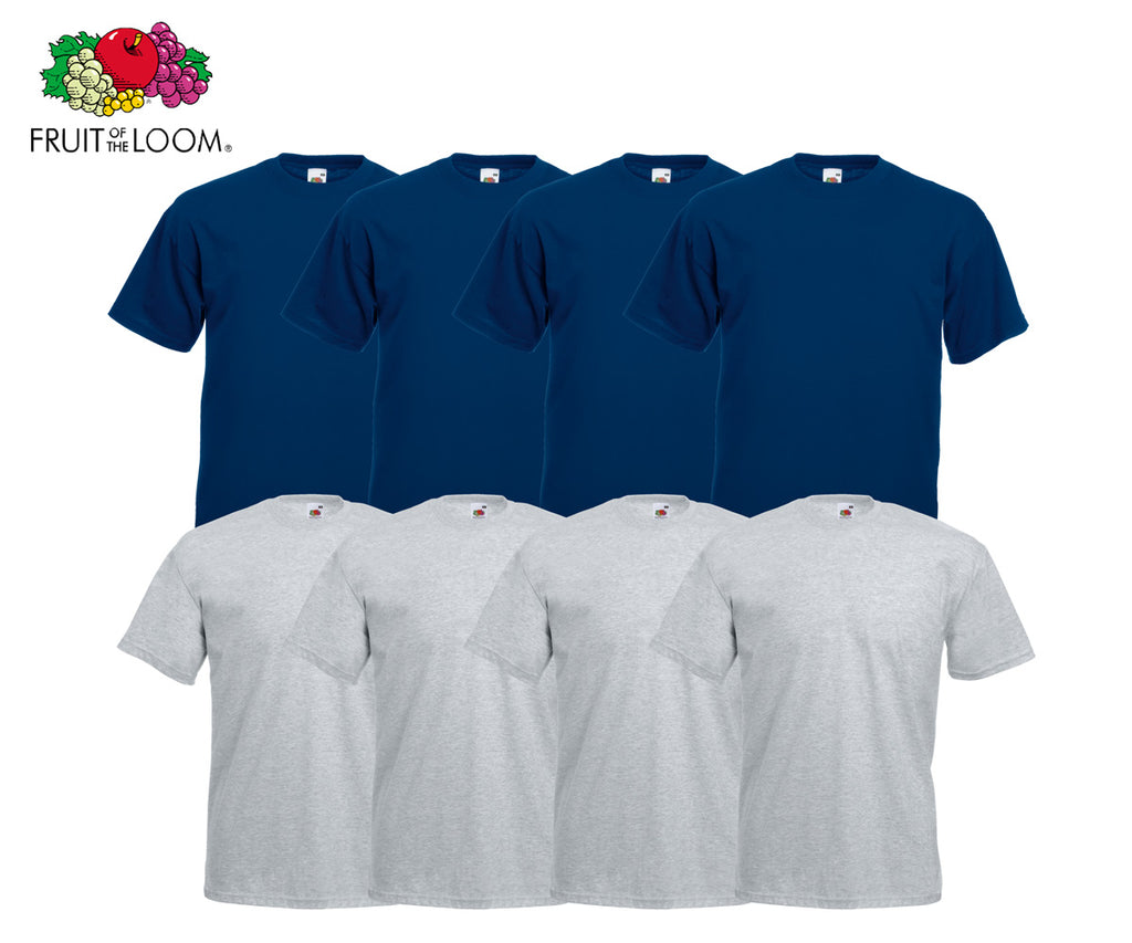 Fruit Of The Loom - Valueweight T-Shirt - 8er Farbset's 1-10